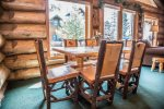 These beautiful log and wood chairs also provide diners with great views of Lake Superior.