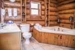 The spacious bathroom is like having a little spa right in the comfort of your cabin.