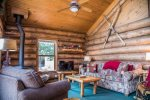 The cabin decor is northwoods cabin-style without being too overwhelming.  Guests love it