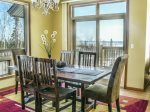 Seating for six at the dining room table, plus great Lake Superior views.