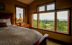 The master bedroom has amazing Lake Superior views you can enjoy from the bed.