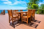 Enjoy an outdoor meal on the community deck.