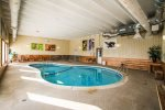 The pool area also has a hot tub, sauna, and a game room, great for kids.