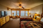 Enjoy stunning, unobstructed Lake Superior views from the large, room wide windows.