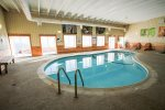 Take a dip in the heater indoor pool.