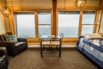 Enjoy your morning coffee at the table while enjoying the Lake Superior views.