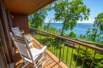 Step out onto your private balcony and enjoy the views of Lake Superior.