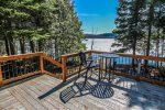 Enjoy great views of Caribou Lake from the deck while enjoying your morning coffee.