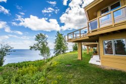 Terrace Point 12A is a Frank Lloyd Wright inspired condo overlooking Lake Superior near Grand Marais, MN.