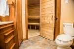 The bathroom is spacious and a retreat in itself.