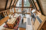 The kitchen also features floor to ceiling windows with great Lake Superior views.