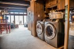 Coming for an extended stay Don`t worry about overpacking as this home has a washer/dryer you can use.