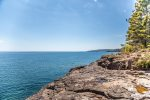 Enjoy access to the private ledge rock shoreline that really lets you enjoy the Lake Superior location.