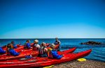 Experience Sea Kayaking on Lake Superior. The guides offer a three hour guided tour throughout the summer and early fall. This activity is free to our guests.