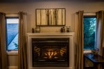 Gas fireplace perfect for those cold nights on the North Shore.