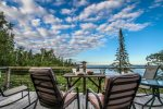 Enjoy the sunrise and moonrise over Lake Superior from the lake-facing deck.