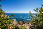 The shoreline area provides great views of Lake Superior.