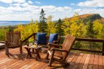 The multi-level deck is great for enjoy the Lake SUperior views.