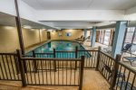 There is both an indoor and outdoor pool, with the indoor pool being available year round.