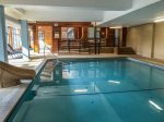 Take a plunge in the heated indoor pool.