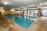 There is both an indoor and outdoor pool, with the outdoor pool being available May through October.