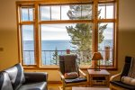 The incredible views of Lake Superior can be enjoyed from the living area windows.