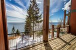 Or step out onto the lake-facing deck and enjoy even more Lake Superior views.