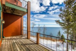 Aspenwood 6520 is a spacious vacation townhome rental in Tofte with stunning Lake Superior views from private decks.