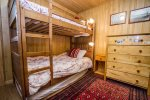 The second bedroom has twin bunk beds.