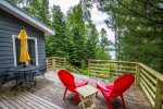 Great views are yours to enjoy from the lake-side deck.