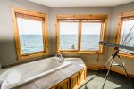 Relax in the in-room jetted tub that allows you to lay back and enjoy the Lake Superior views after a long day of exploring the North Shore.