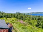 While not directly on Gunflint Lake, you have great lake views and easy access from the public boat launch.