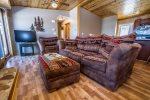 Comfortable seating provides a place to kick your feet up after a long day of exploring the Gunflint Trail.