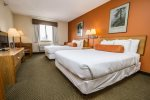 Mountain Queen rooms have two queen beds.