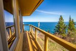 Enjoy sweeping 180 degree views of Lake Superior from the deck.