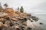 Enjoy wonderful Lake Superior views from the private ledge rock shoreline at Terrace Point.