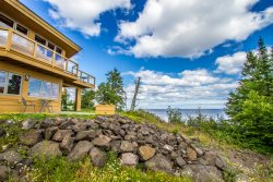 Terrace Point 11A is a Frank Lloyd Wright inspired condo overlooking Lake Superior near Grand Marais, MN.
