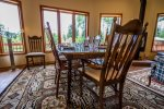 With seating for up to 8 guests, the dining table is great for enjoying family meals.