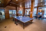 Play a game of ping pong in the indoor pool area.