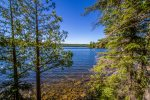 These beautiful views of Loon Lake greet you from the house.