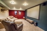 The real highlight of this home is the large indoor theater.