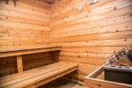 Also featured on the property is a charming sauna, which is perfect after an invigorating swim or a quick dip in the cool waters of Clearwater Lake.