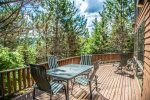 The spacious lake-facing deck is a great hang out spot on warm summer days.