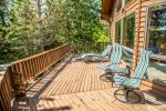 Sit back and relax on the lake-facing deck.