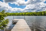 Birch Lake sits at the edge of the Boundary Waters Canoe Area Wilderness in Minnesota`s pristine north woods.