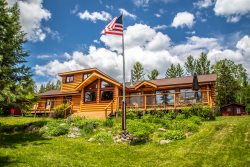Birch Lake Retreat is a log cabin style home located in the pristine wilderness of Minnesota's North Woods.