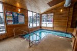 Take a dip in the hot tub, located near the indoor pool.