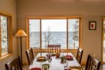 Whatever you are using it for, the views from the dining room are sure to impress.