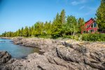 The house sits just steps away from Lake Superior`s North Shore.