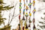 The wind chimes on the front porch play a soothing sound during windy weather.